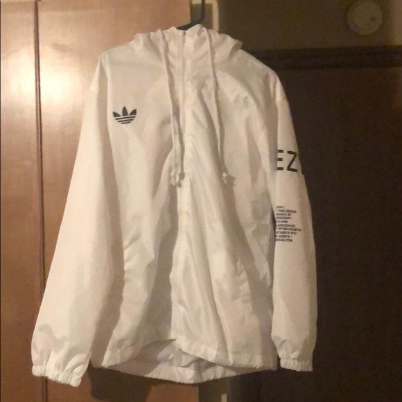 Adidas White Yeezy Windbreaker